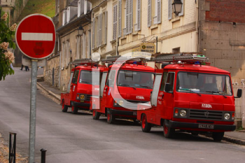Royalty Free Photo of Fire Engines