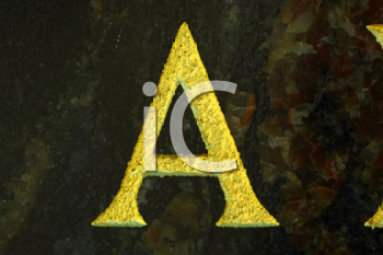 Royalty Free Photo of the Letter A