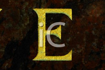 Royalty Free Photo of the Letter E