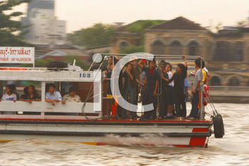 Royalty Free Photo of People on a Boat