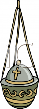 Royalty Free Clipart Image of Incense