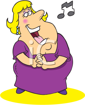 Royalty Free Clipart Image of an Opera Singer