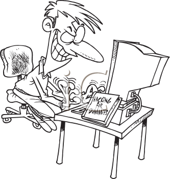 Royalty Free Clipart Image of a Hacker