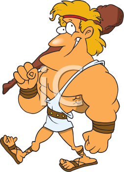 Royalty Free Clipart Image of Hercules