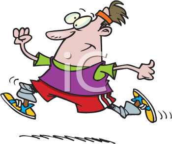 Royalty Free Clipart Image of a Jogger