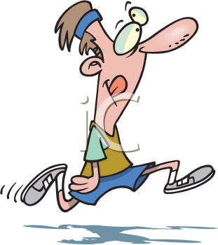 Royalty Free Clipart Image of a Man Jogging