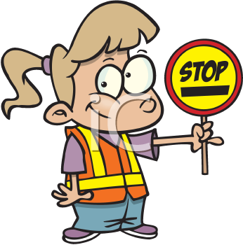 Royalty Free Clipart Image of a Crossing Guard
