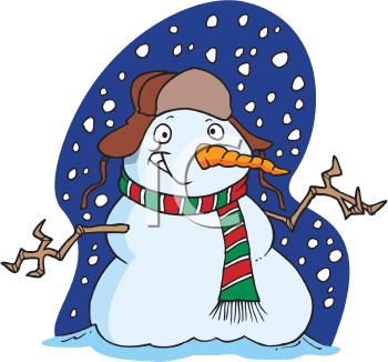 Royalty Free Clipart Image of a Snowman