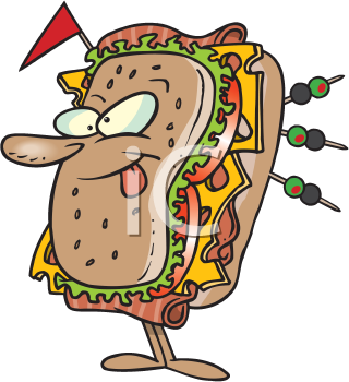 Royalty Free Clipart Image of a Sub