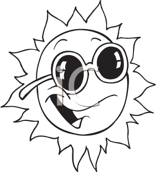 Royalty Free Clipart Image of the Sun