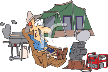 Royalty Free Clipart Image of the Ultra Camper