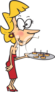 Royalty Free Clipart Image of a Party Hostess