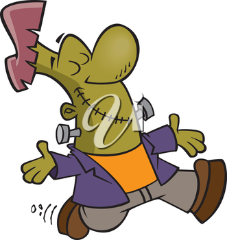 Royalty Free Clipart Image of a Happy Frankenstein