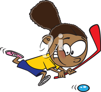 Royalty Free Clipart Image of a Floor Hockey Player