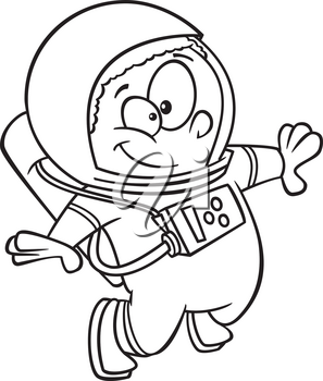 Royalty Free Clipart Image of a Child Astronaut