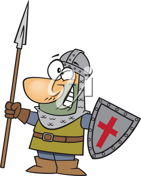 Royalty Free Clipart Image of a Castle Guard