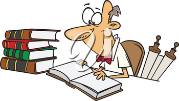 Royalty Free Clipart Image of a Historian