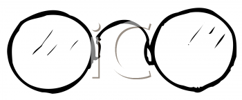 Royalty Free Clipart Image of Eyeglasses