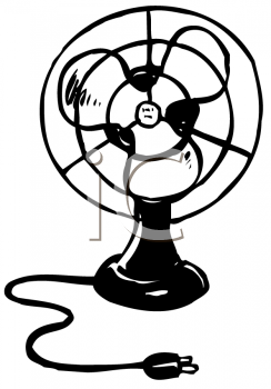 Royalty Free Clipart Image an Electric Fan