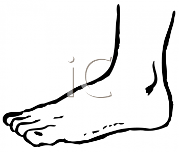 Royalty Free Clipart Image of a Foot