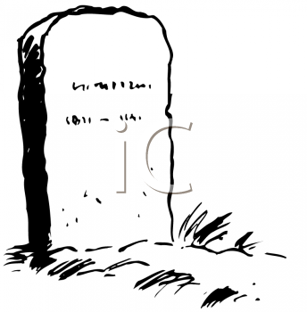 Royalty Free Clipart Image of a Tombstone