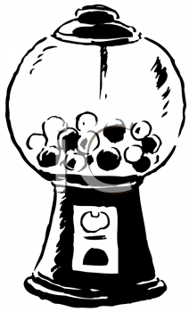 Royalty Free Clipart Image of a Gumball Machine