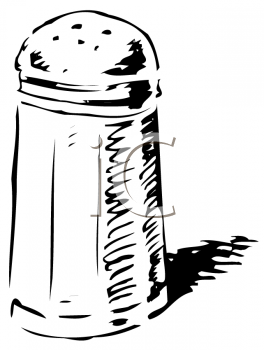 Royalty Free Clipart Image of a Salt Shaker