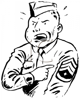 Royalty Free Clipart Image of a Sergeant