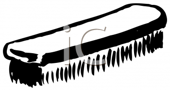 Royalty Free Clipart Image of a Shoebrush