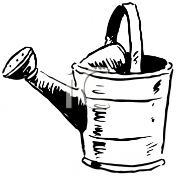 Royalty Free Clipart Image of a Watering Ca