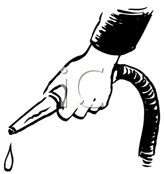Royalty Free Clipart Image of a Dripping Waterhose