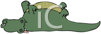 Royalty Free Clipart Image of a Dead Alligator