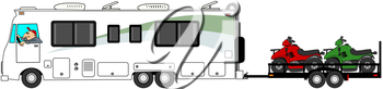 Royalty Free Clipart Image of a Motorhome