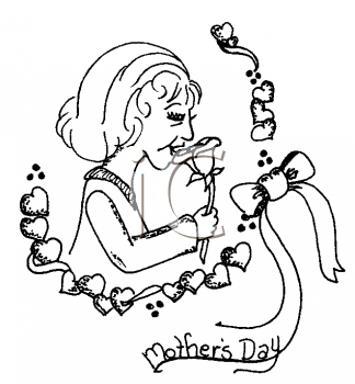 Royalty Free Clipart Image of a Mother's Day Greeting