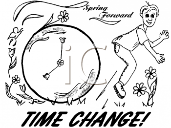 Royalty Free Clipart Image of Daylight Savings Time