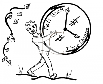 Royalty Free Clipart Image of a Daylight Savings Time