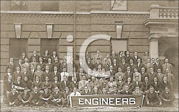 Royalty Free Photo of a Group Portrait of Engineers