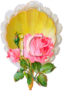 Royalty Free Clipart Image of a Victorian Flower Arrangement
