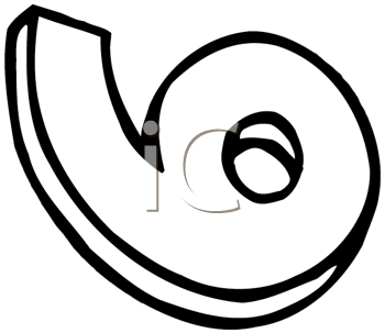 Royalty Free Clipart Image of a Six or a Nine on Its Side