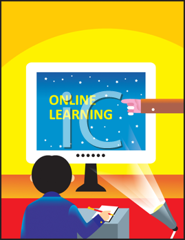 Royalty Free Clipart Image of Online Learning
