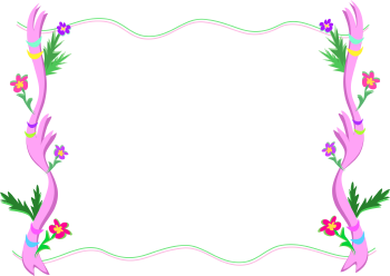 Royalty Free Clipart Image of a Frond Flower Frame
