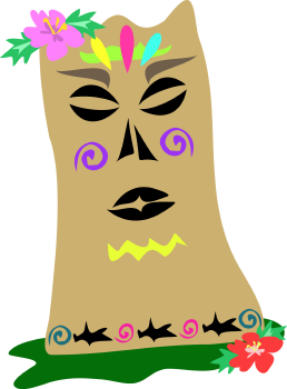 Royalty Free Clipart Image of a Tiki