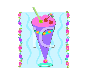 Royalty Free Clipart Image of a Soda