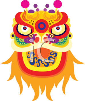 Royalty Free Clipart Image of a Chinese Fortune Character