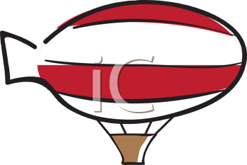 Royalty Free Clipart Image of a Blimp
