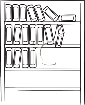 Royalty Free Clipart Image of a Bookcase