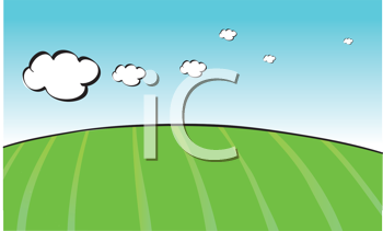 Royalty Free Clipart Image of a Green Field Background