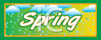 Royalty Free Clipart Image of a Spring Banner