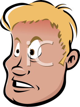 Royalty Free Clipart Image of a Blond Man