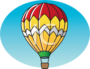 Royalty Free Clipart Image of a Hot Air Balloon